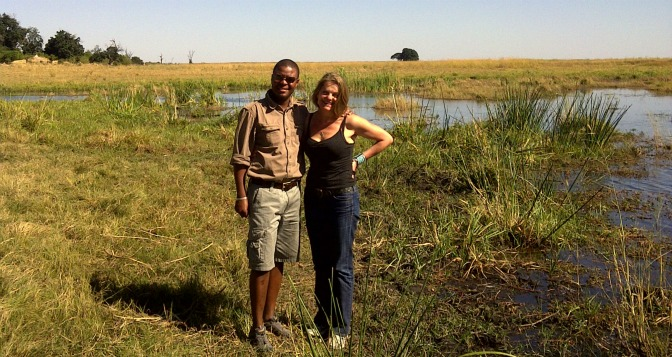 With Beks Ndlovu from African Bushcamps surveying his empire