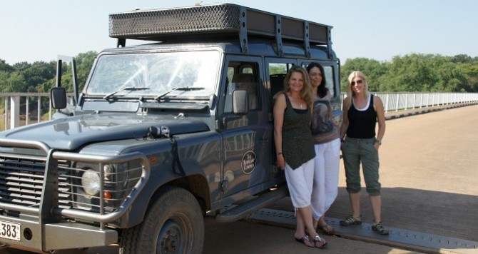 Our very own car in South Luangwa