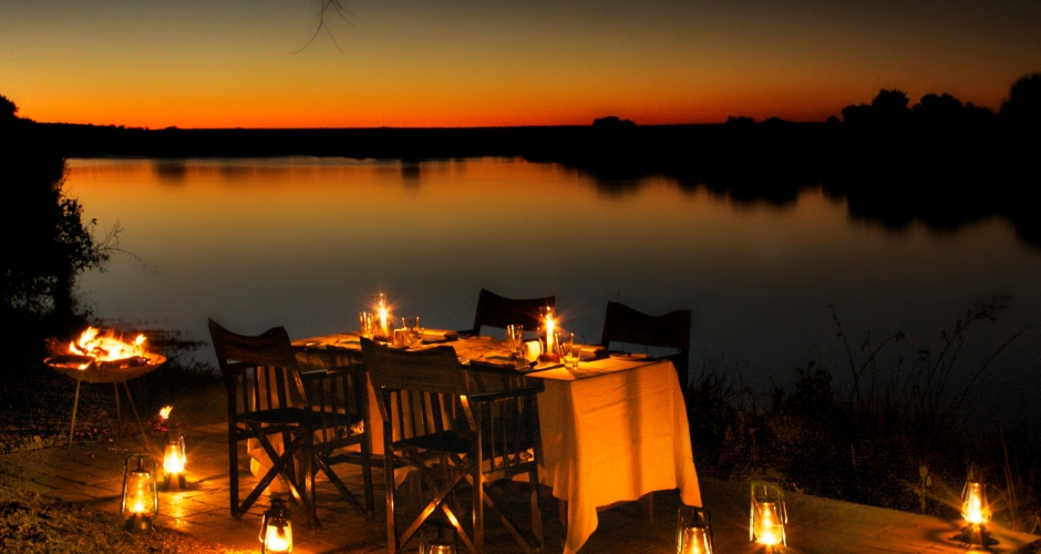 6 – Imvelo Safari Lodges – Zambezi Sands River Camp – Dining on the river banks